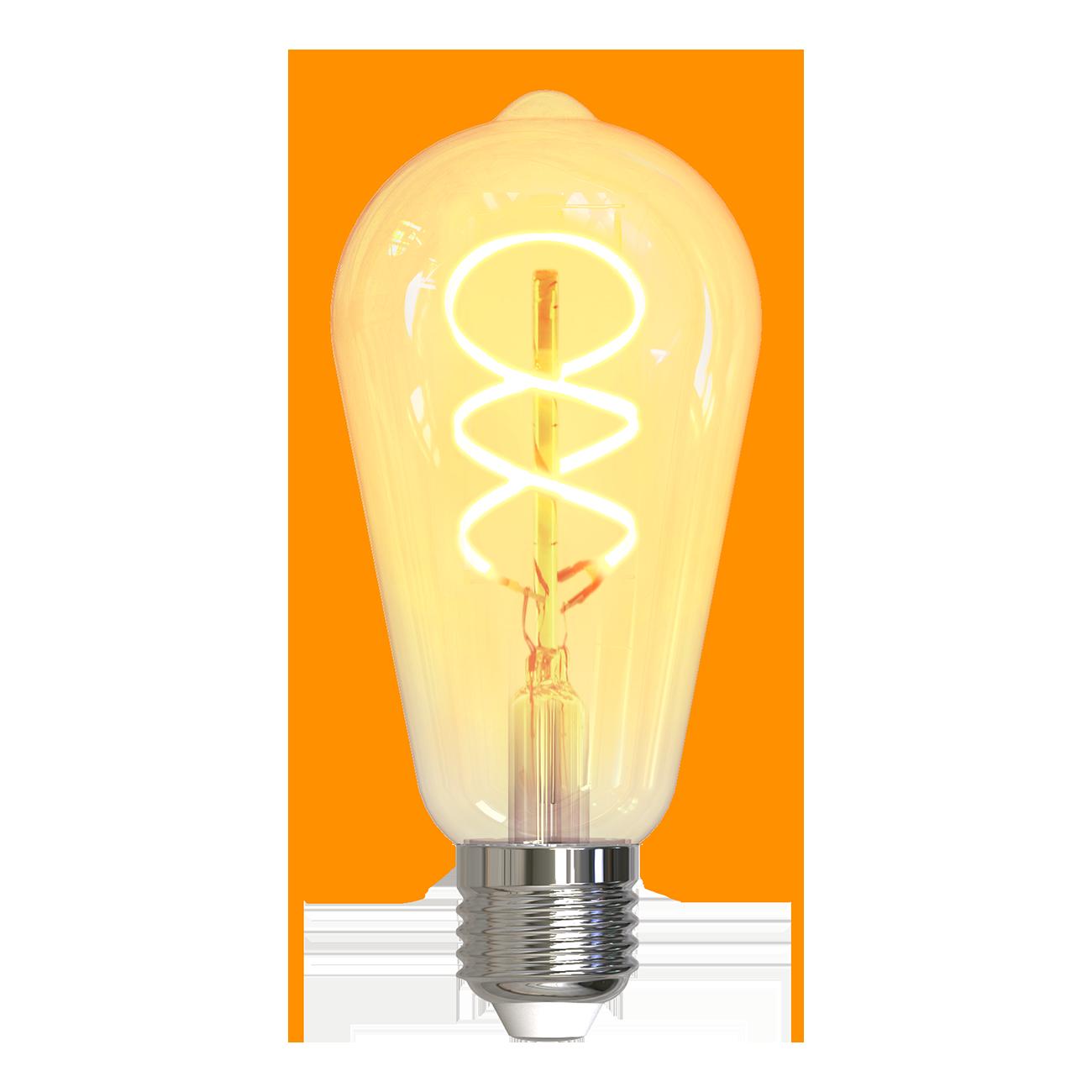 DELTACO SMART HOME Filament LED-lampa, E27, WiFi, 5.5W