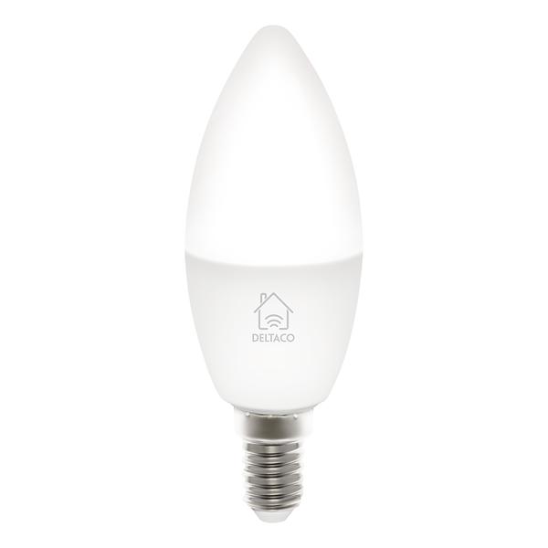 Deltaco Smart Home LED-lampa, E14, WiFi, 5W, 2700K-6500K, dimbar
