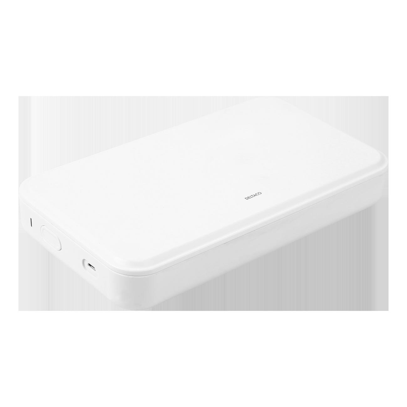 DELTACO UV-desinfektionslåda för mobiler m.fl., UV-C LED, 275nm
