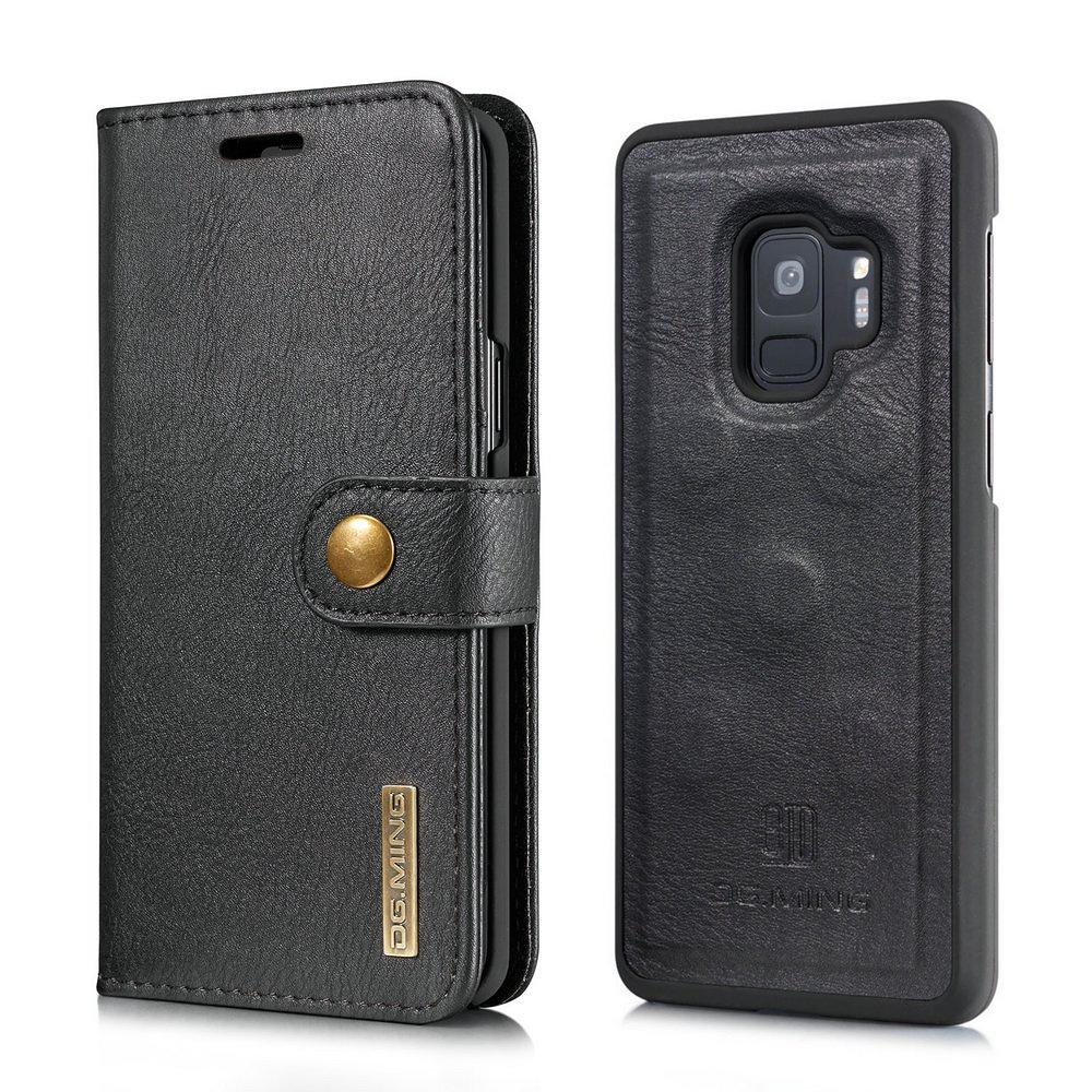 DG.MING fodral med magnetskal & ställ, Samsung Galaxy S9, svart