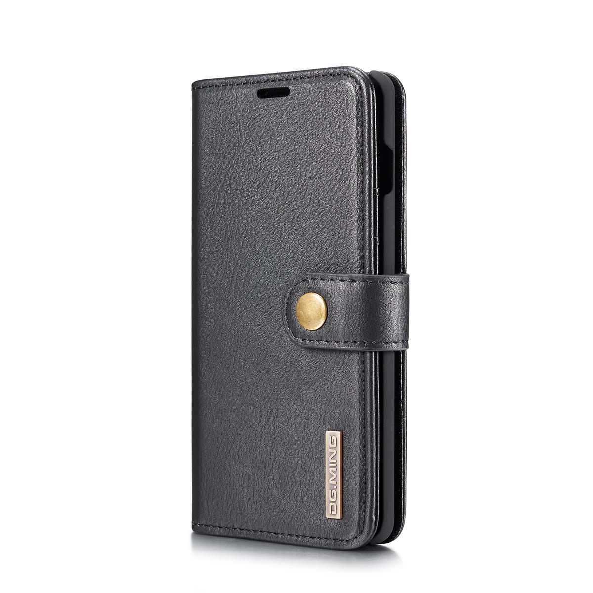 DG.MING fodral, kortplats och ställ, Samsung Galaxy S10, svart