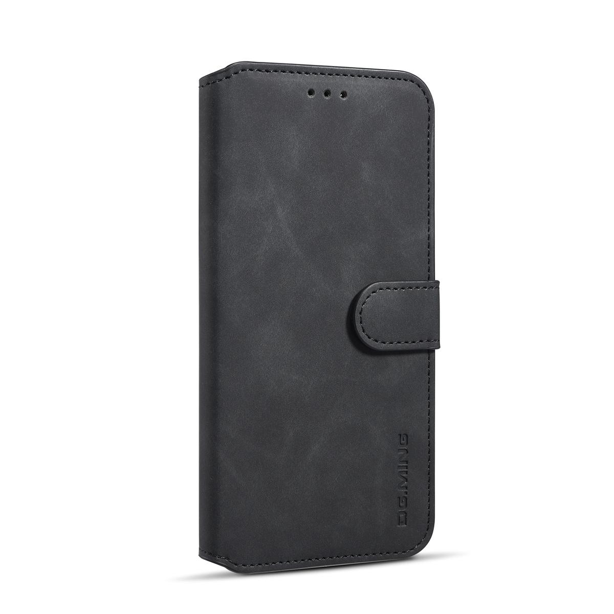 DG.MING Retro fodral, ställ, kortplats, iPhone XS Max, svart