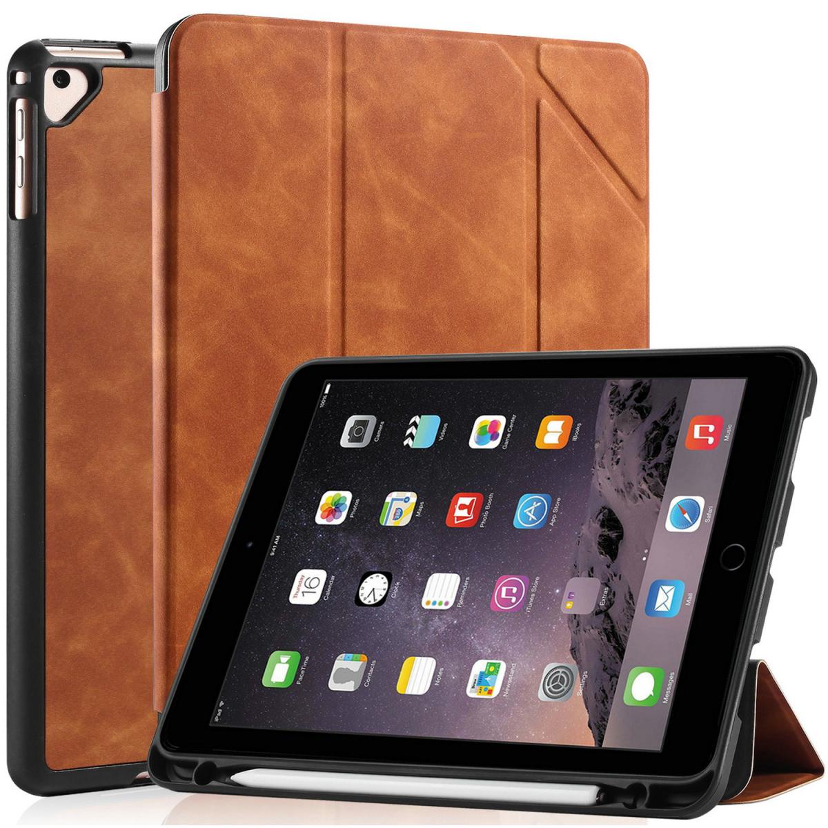 DG.MING Retro Style fodral till iPad Air/Air2 och iPad 9.7, brun