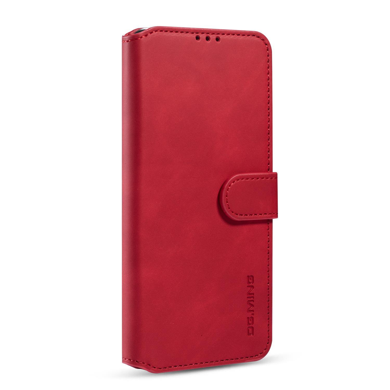 DG.MING Retro fodral kortplats, ställ, Samsung Galaxy S20, röd
