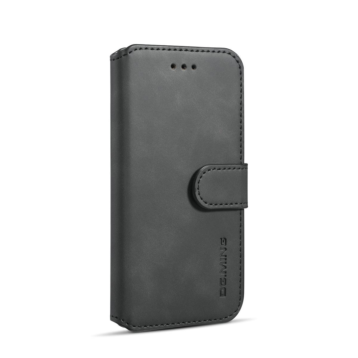 DG.MING Retro fodral med ställ och kortplats, iPhone 6/6S, svart