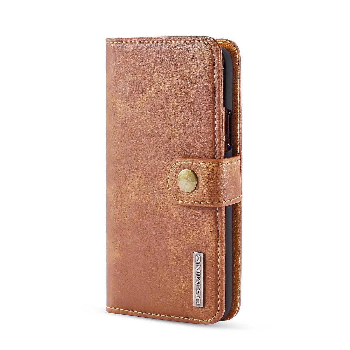 DG.MING fodral med magnetskal & ställ, iPhone 11 Pro, brun