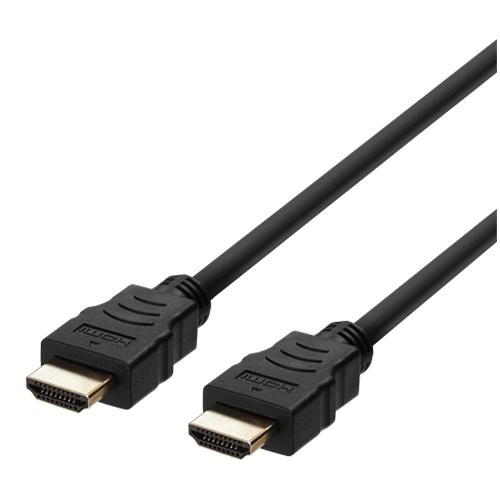 Deltaco Ultra High Speed HDMI-kabel, 48Gbps, 8K, 1m, svart