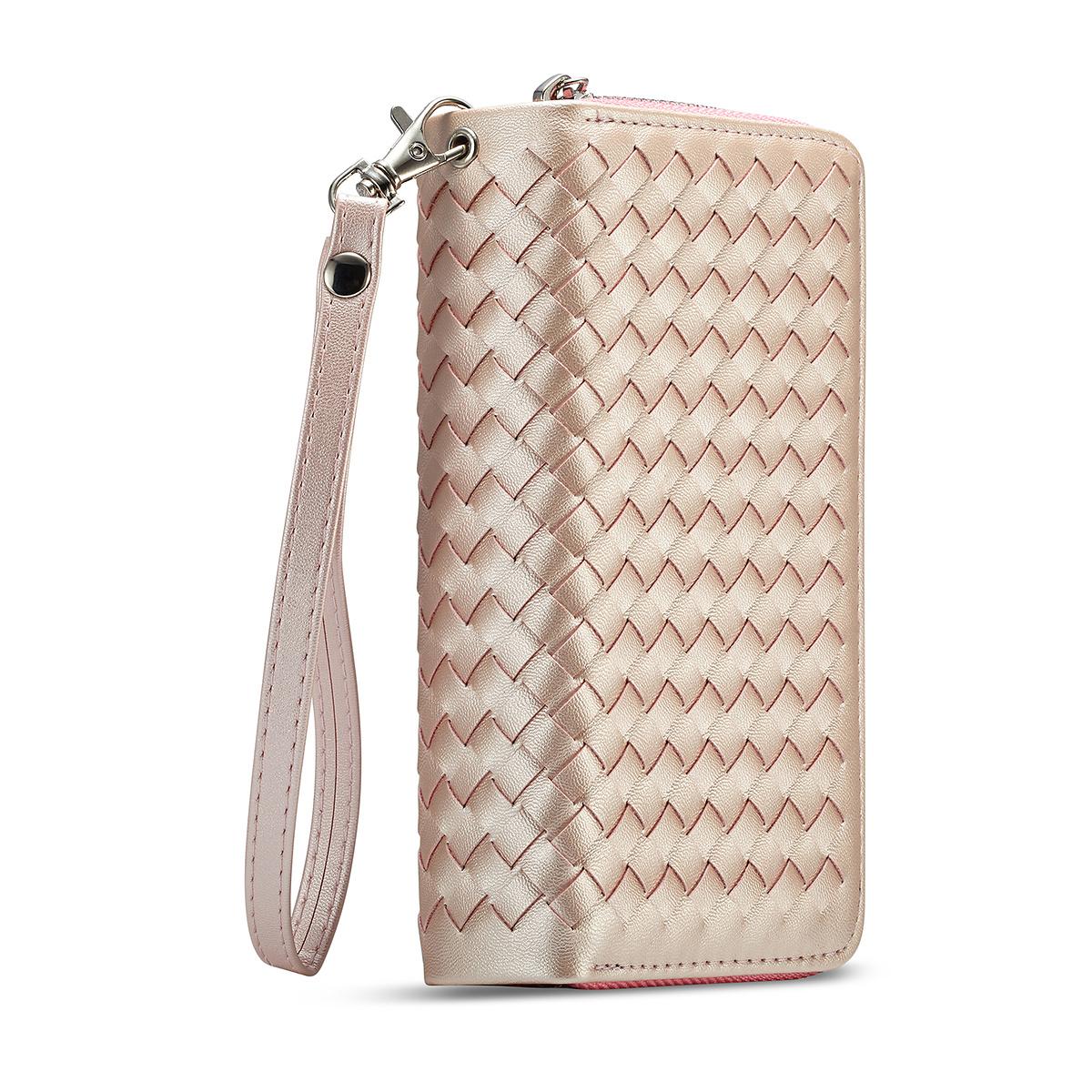 Exklusivt plånboksfodral med magnetskal, iPhone X/XS, rosa