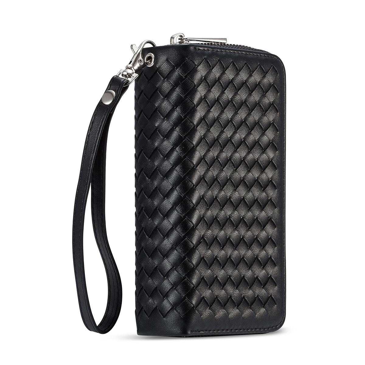 Exklusivt plånboksfodral med magnetskal, iPhone X/XS, svart