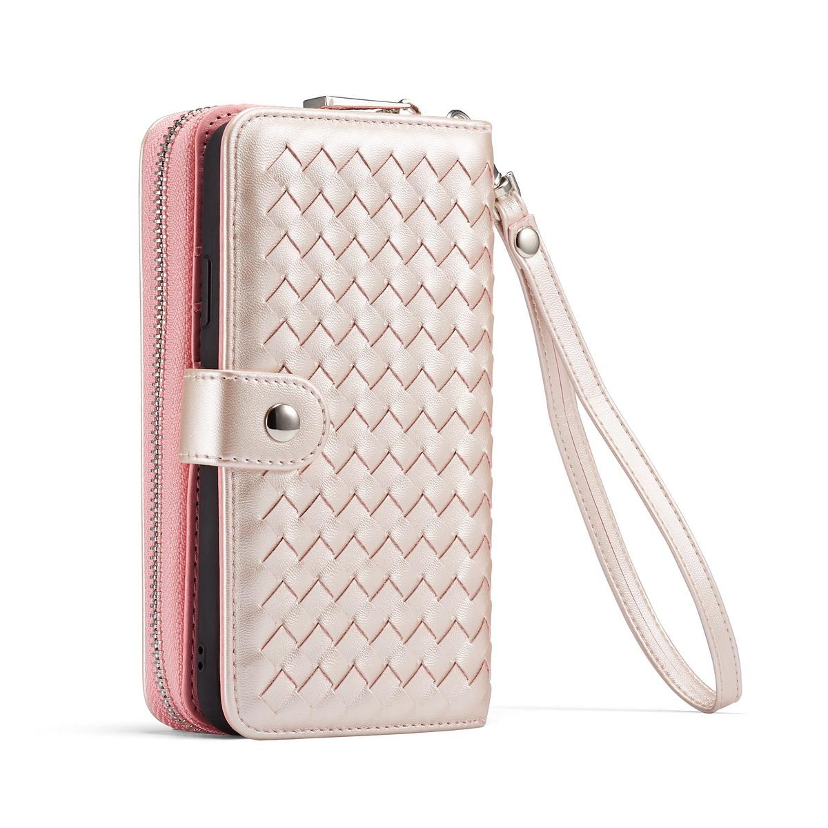 Exklusivt plånboksfodral med magnetskal, iPhone 11, rosa