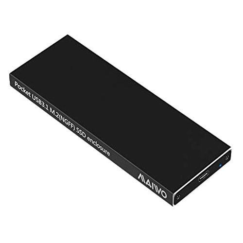 Externt M.2 kabinett, USB-C, USB 3.1 Gen2, 10Gbps