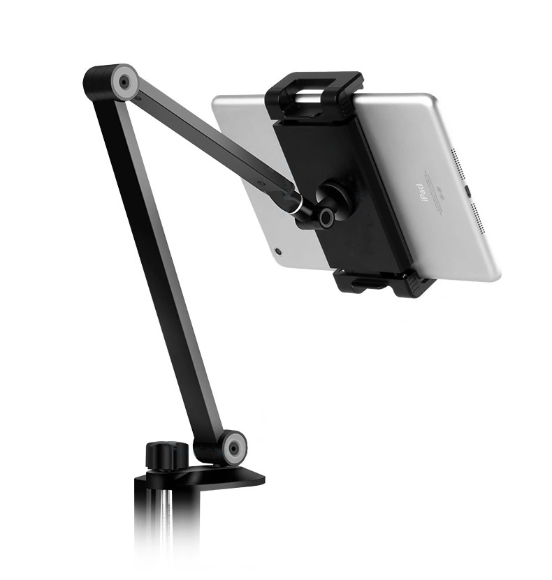 Flexibel mobilhållare för skrivbord, universal, svart
