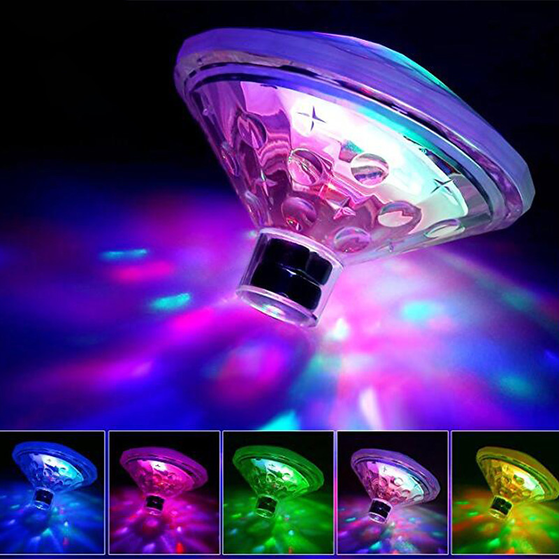 Flytande LED-belysning för utespa, pool, badkar