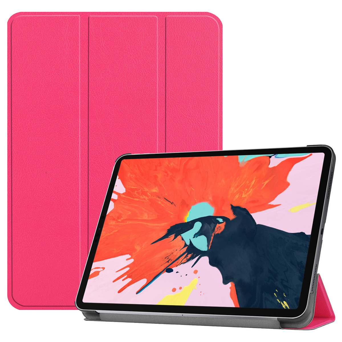 Fodral med ställ, iPad Pro 12.9 (2018), ljusrosa