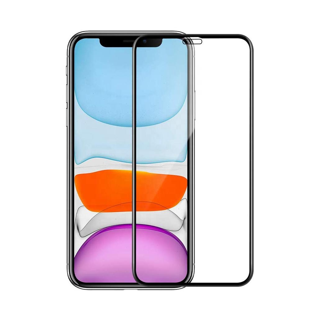 Heltäckande skärmskydd i härdat glas, iPhone 11 Pro Max, 9H