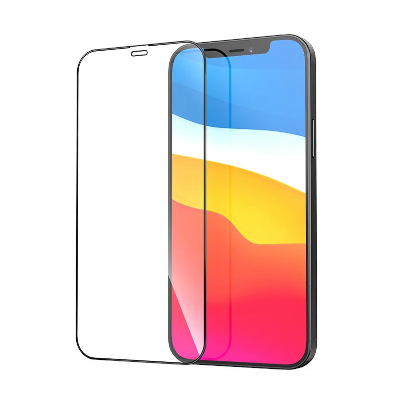 Heltäckande skärmskydd i härdat glas, iPhone 12/12 Pro, 9H