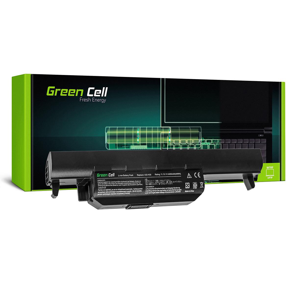Green Cell Batteri för Asus A32-K55 A45, 11.1V, 4400mAh