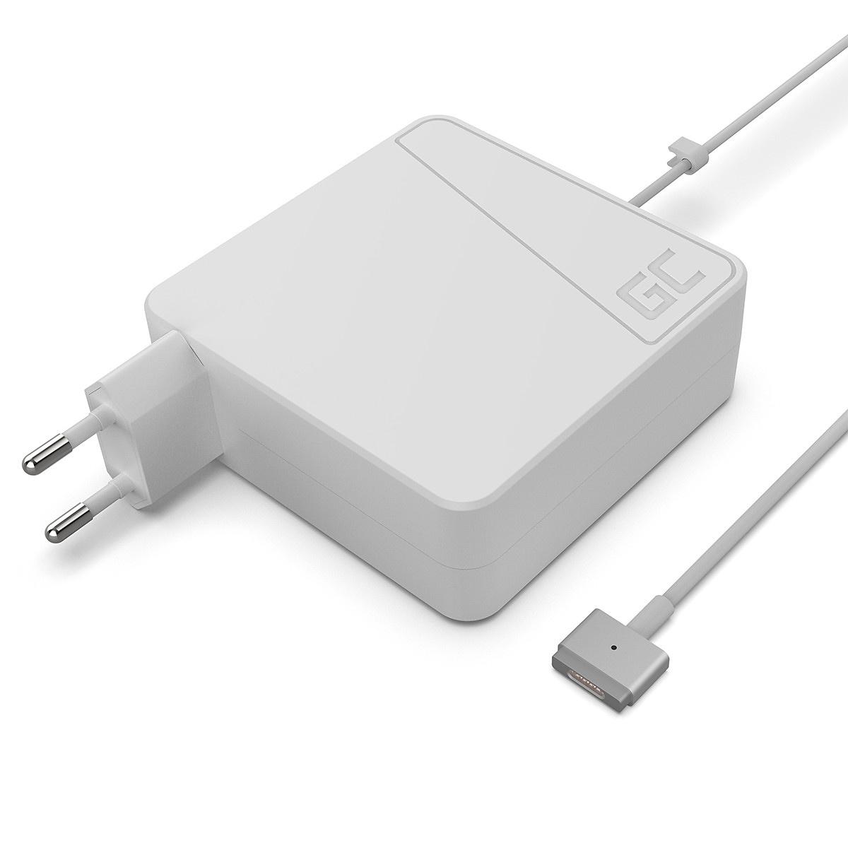 Green Cell laddare till Macbook 85W Magsafe 2 (T-kontakt)