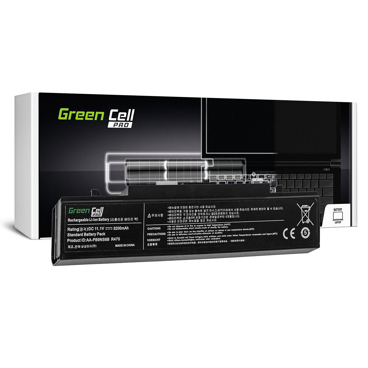 Green Cell PRO Batteri för Samsung R540 R580 R620, 11.1V 5200mAh
