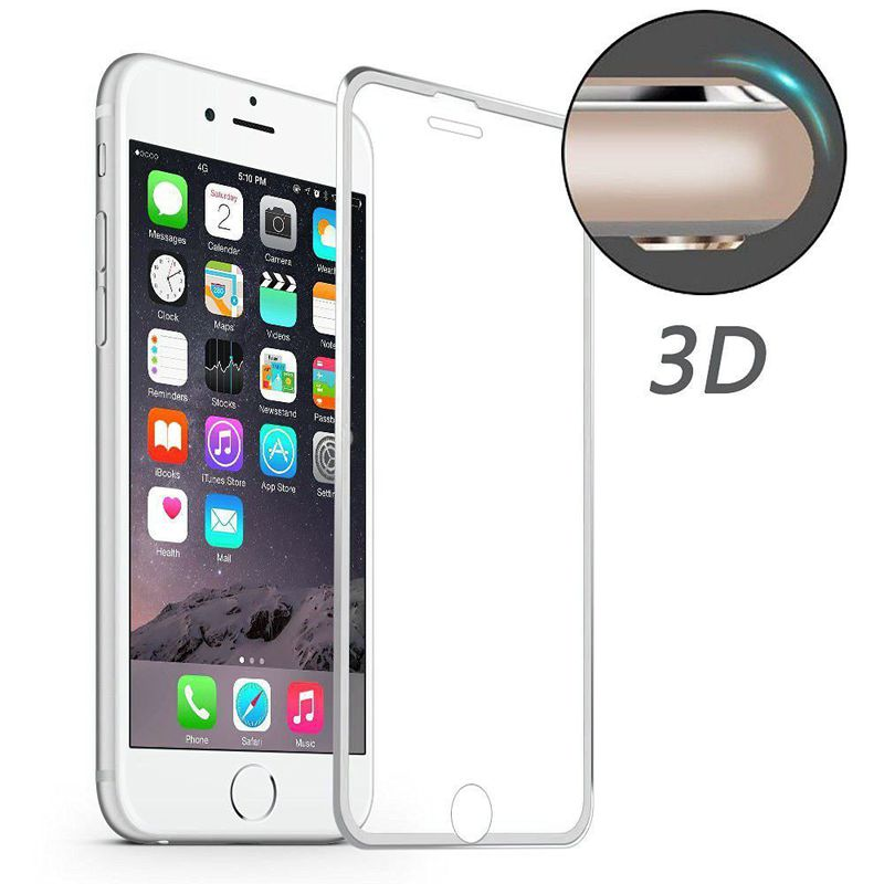 Härdat 0.2mm skärmskydd, iPhone SE2/8/7, silver