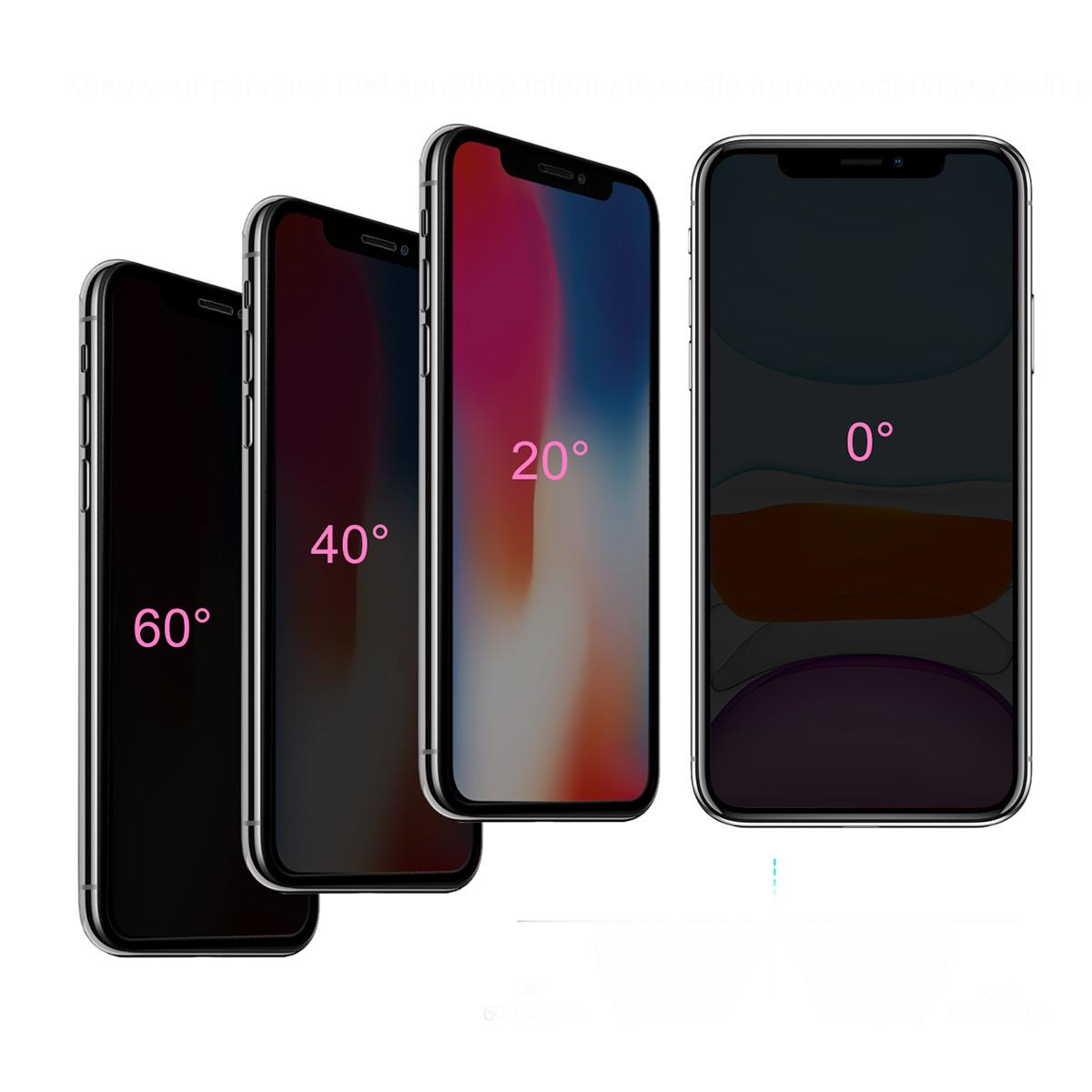 Kapsolo Privacy skärmskydd i härdat glas, iPhone 12/12 Pro