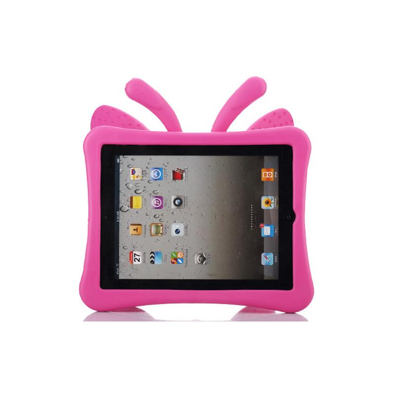 Fjärilsformat barnfodral till iPad 2/3/4, rosa