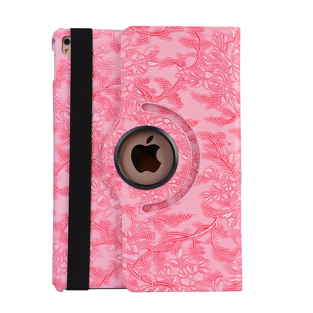 Läderfodral blommor rosa, iPad Air 3, Pro 10.5
