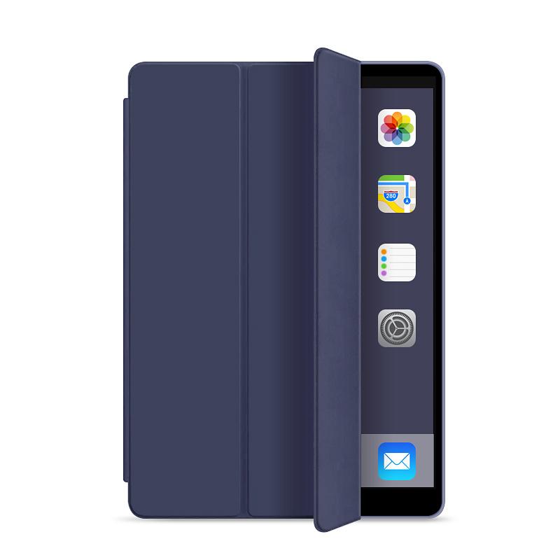 Läderfodral med ställ, iPad Air 2, blå
