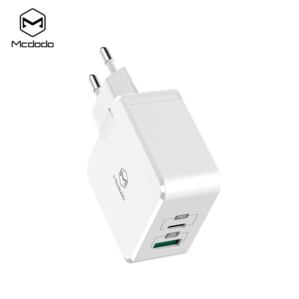 McDodo CH 6920 Dual Väggladdare, QC3.0, 30W, USB C, vit