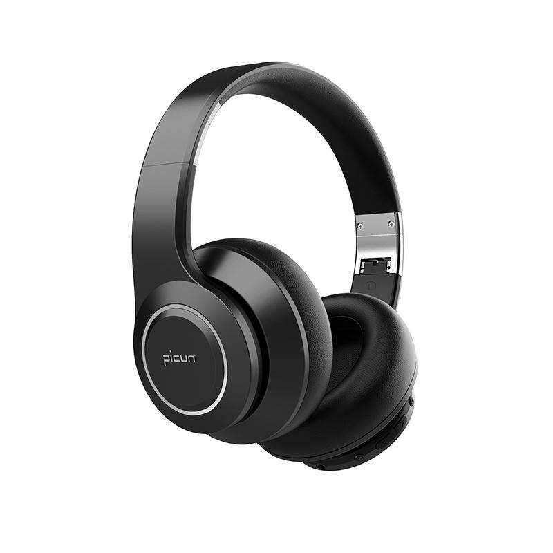 PICUN B25 Trådlösa Over Ear-hörlurar med brusreducering, svart