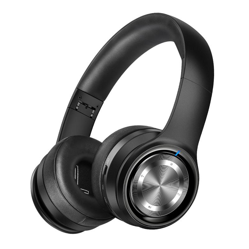 PICUN B26 Trådlösa Over Ear-hörlurar, Bluetooth 5.0, svart