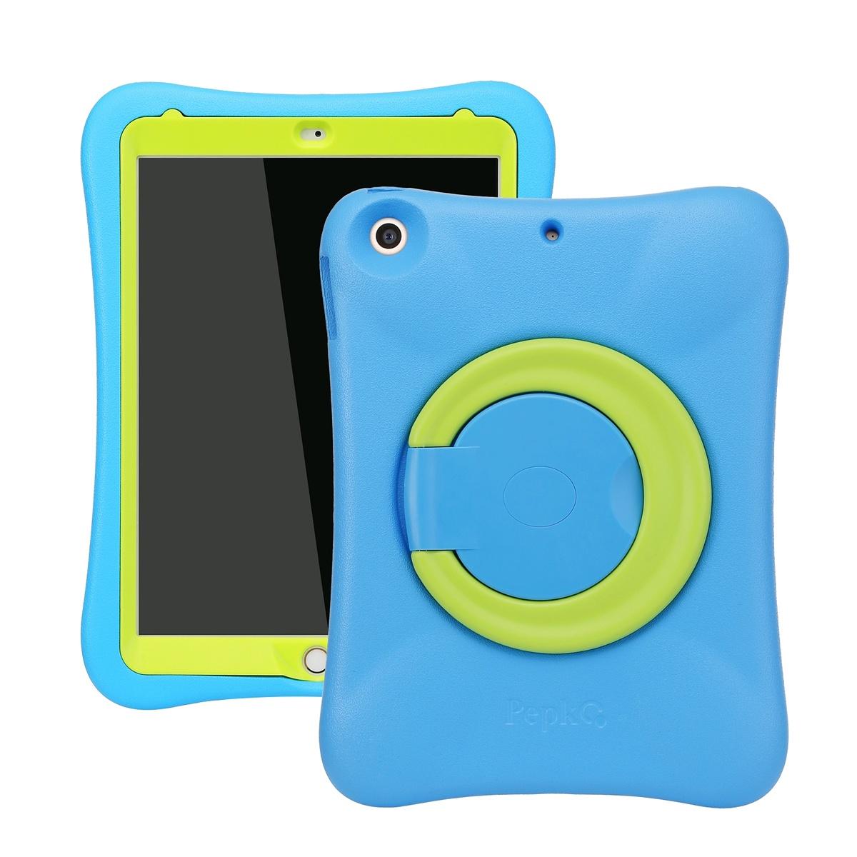 Barnfodral till iPad Air/Air 2/iPad 9.7(2017-2018), blå/grön