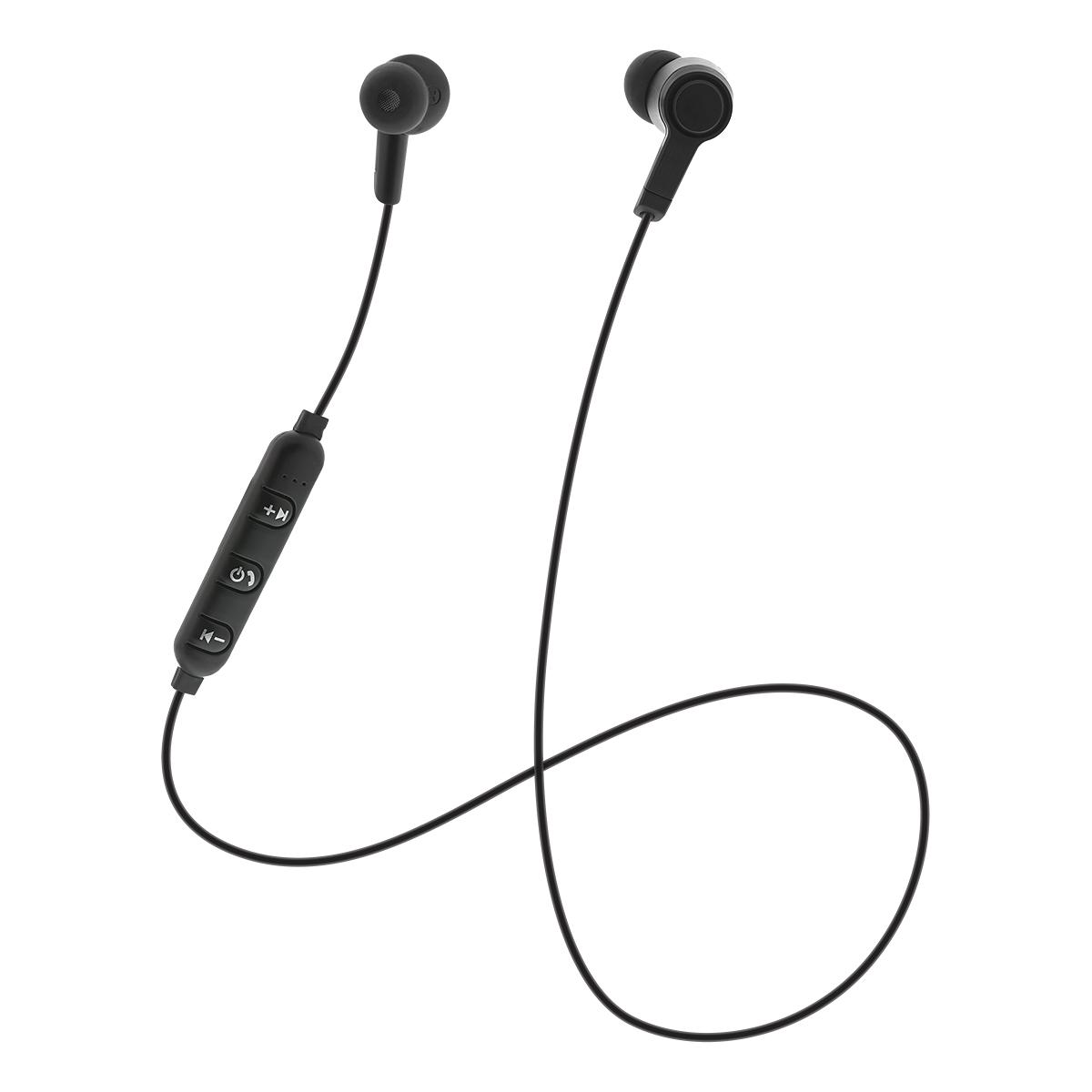 STREETZ In-ear Bluetooth headset, mjuka öronkuddar, svart