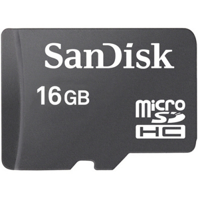 16GB SanDisk MicroSDHC Klass 10