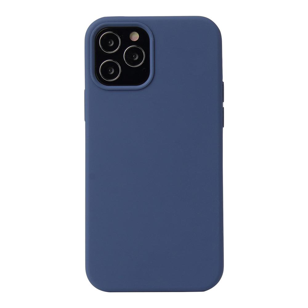 Soft Touch Silikonskal till iPhone 12/12 Pro, mörkblå