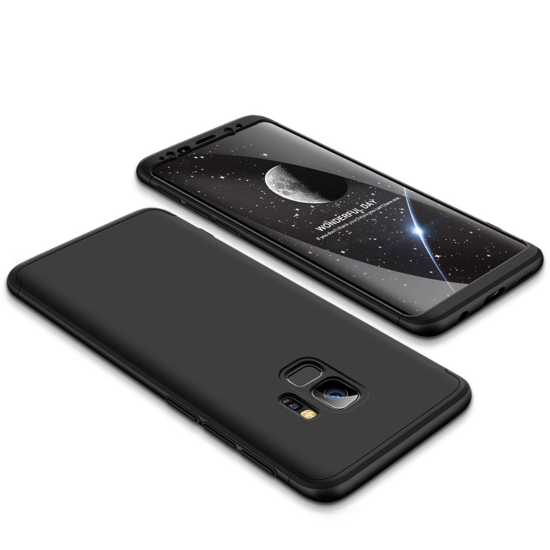 3-delat skal till Samsung Galaxy S9 Plus, svart