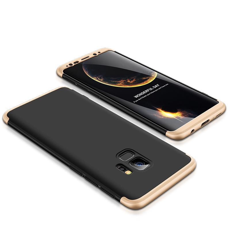 3-delat skal till Samsung Galaxy S9, svart/guld