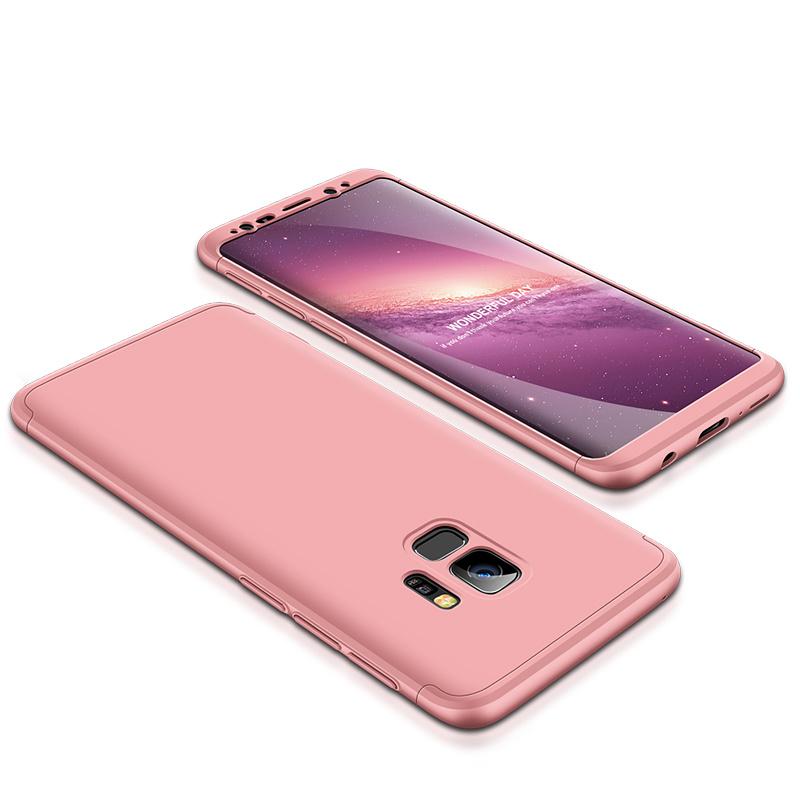 3-delat skal till Samsung Galaxy S9 Plus, rosa