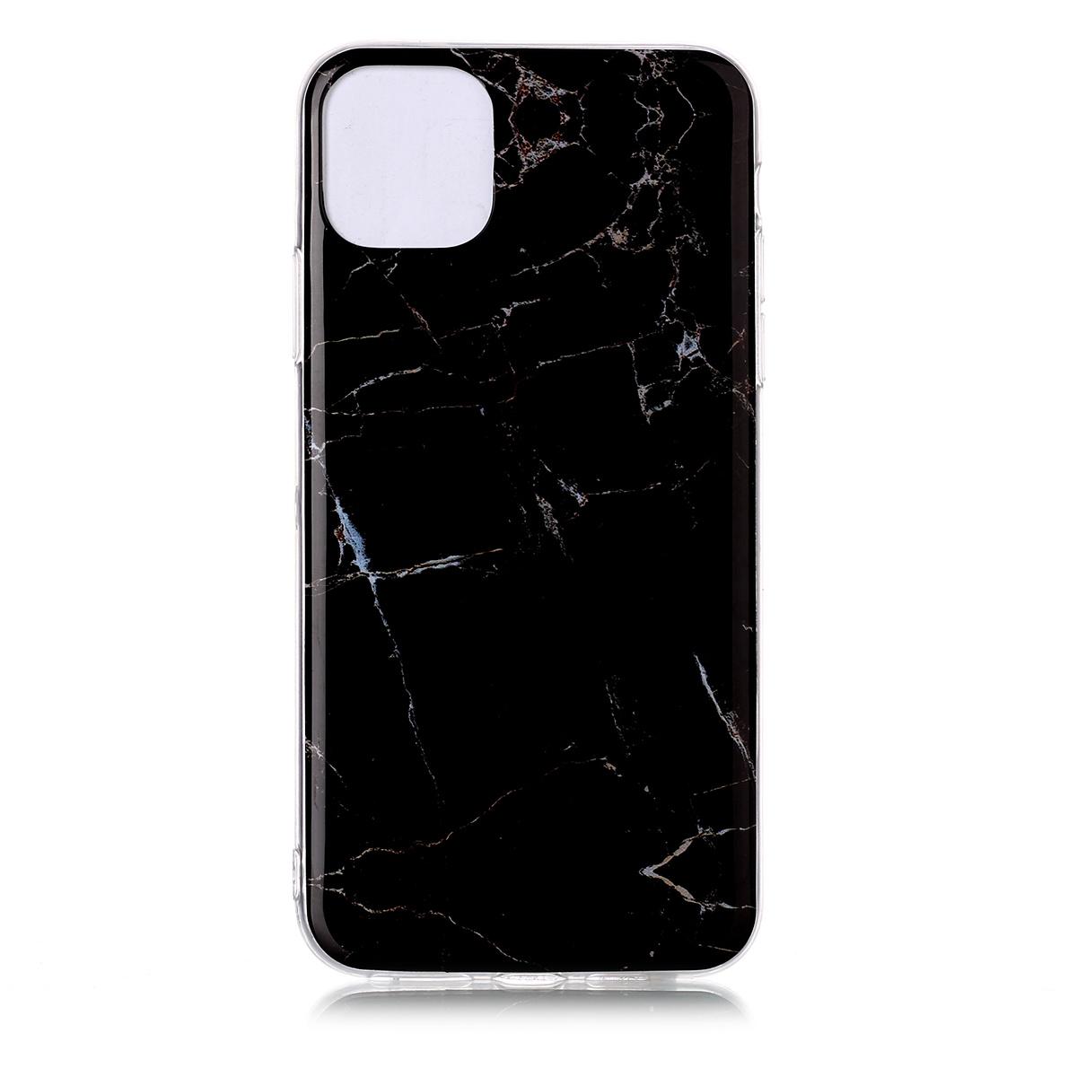Trendigt marmorskal med mönster, iPhone 11 Pro Max, svart