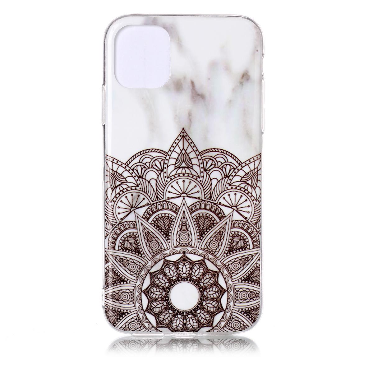 Trendigt marmorskal med mönster, iPhone 11 Pro, mandala