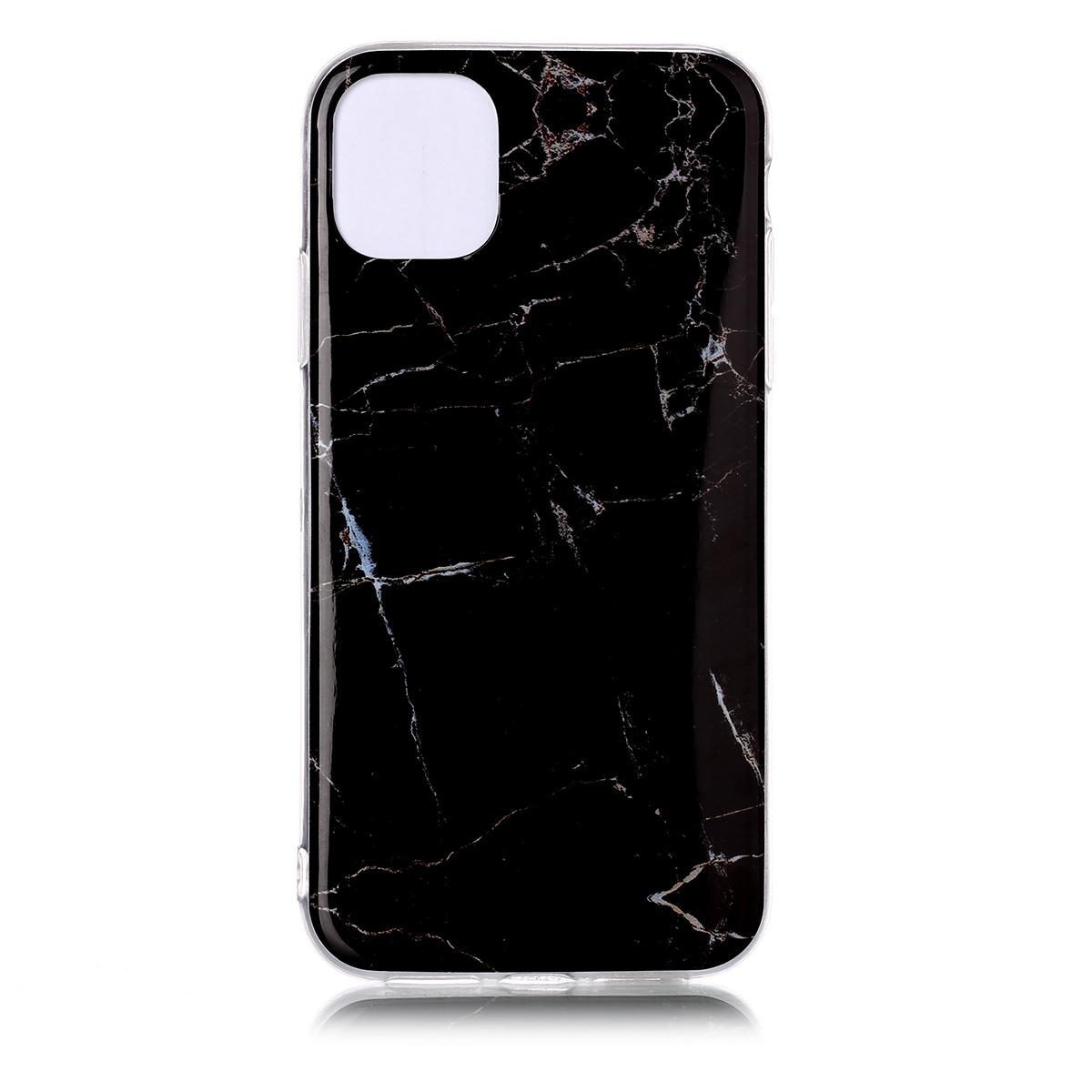 Trendigt marmorskal med mönster, iPhone 11 Pro, svart