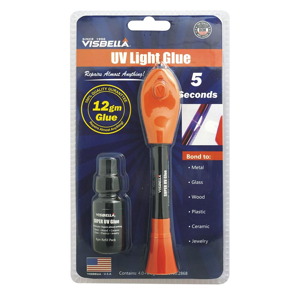 5 sekunders UV-lim + extra refill, Flytande plast, härdar blixtsnabbt