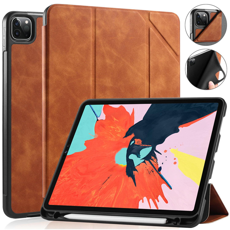 DG.MING Retro Style fodral till iPad Pro 11 (2020), brun