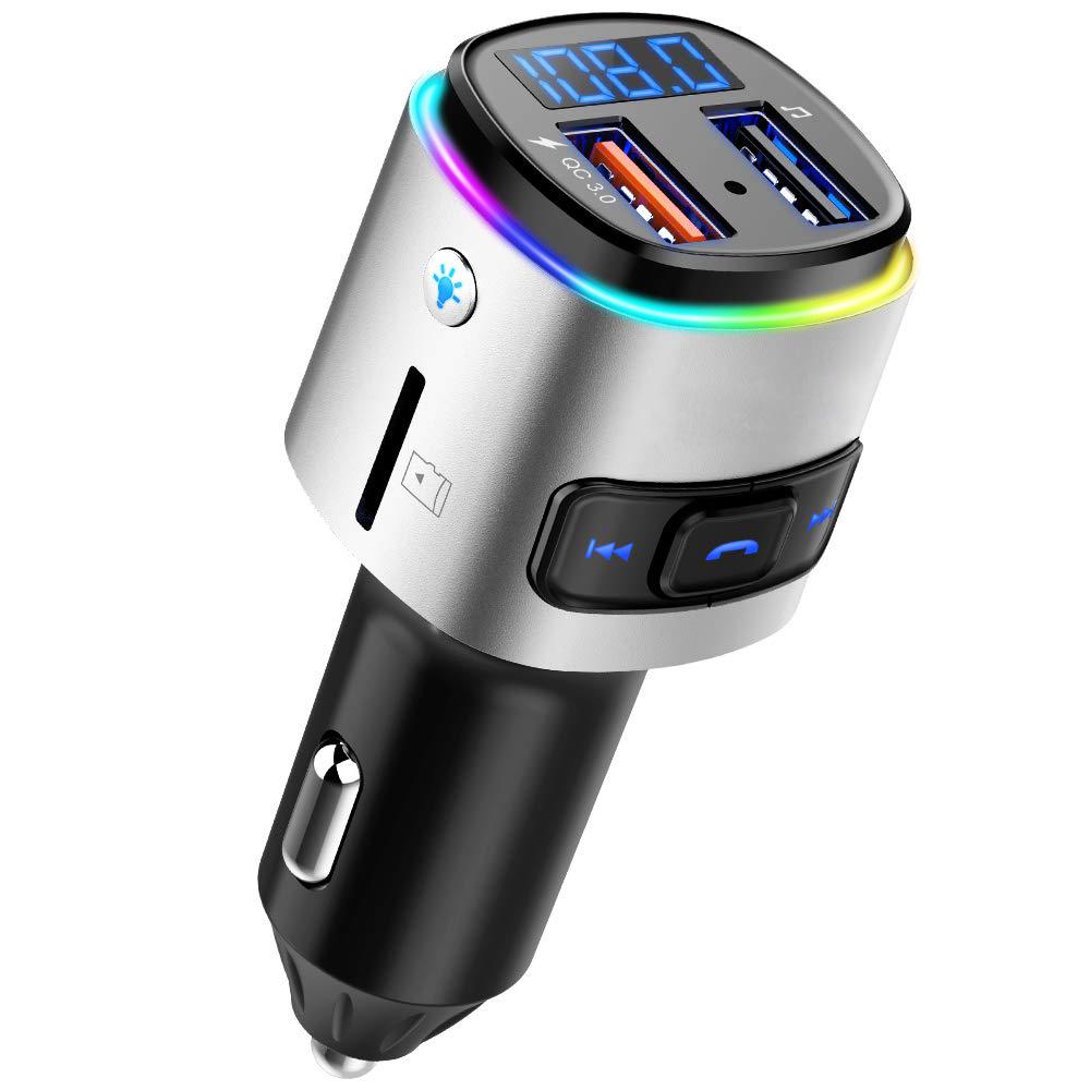Billaddare med FM-sändare och Quick Charge 3.0