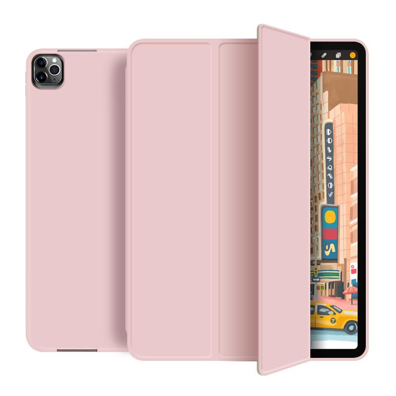 Läderfodral med ställ till iPad Pro 12.9 (2020), rosa