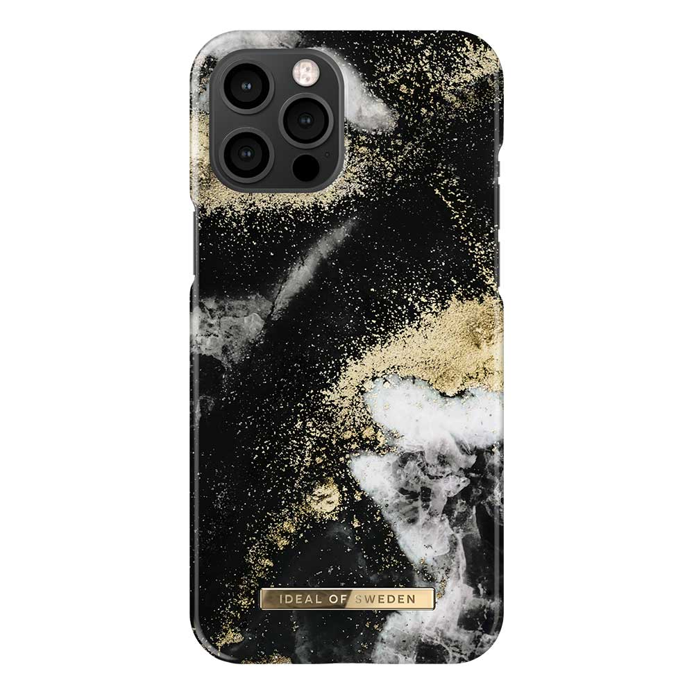 iDeal Fashion Case skal, iPhone 12 Pro Max, Black Galaxy Marble
