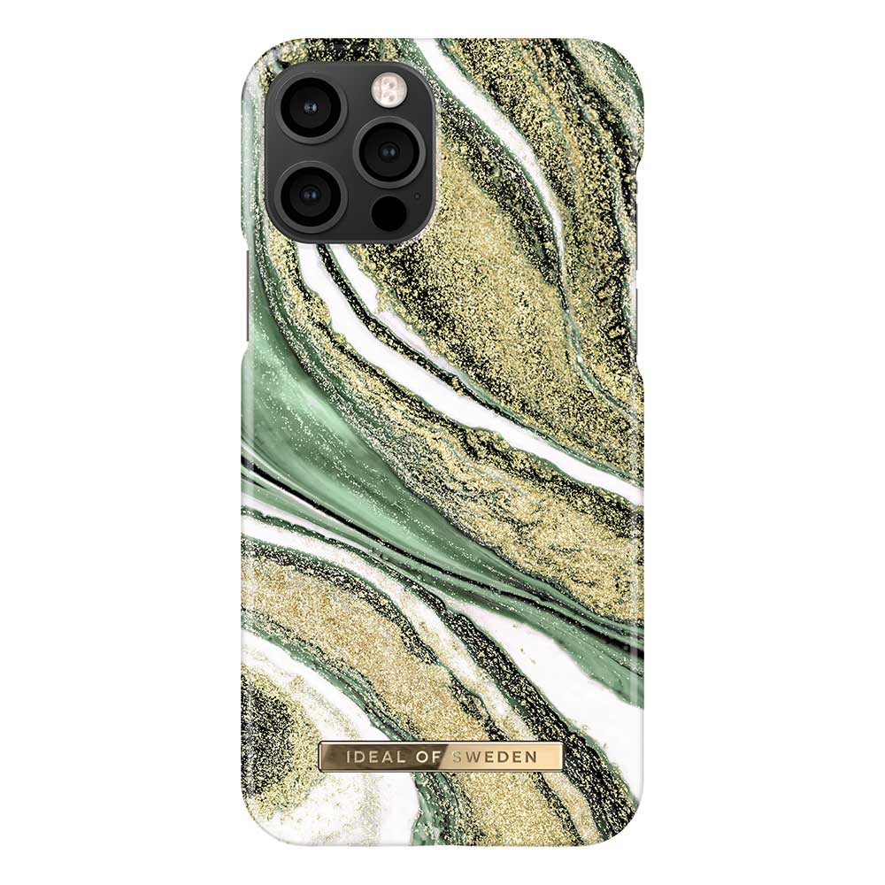 iDeal Fashion Case skal, iPhone 12/12 Pro, Cosmic Green Swirl