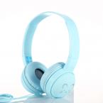 Trådbundna On Ear-hörlurar med söt design, blå