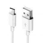 USB-C kabel, 0.25m, 2A, vit