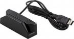 Magnetskortläsare, spår 1+2+3, USB, svart